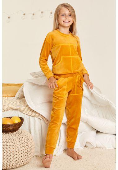 8144-6407 Komplet dziewczęcy (bluzka+spodnie) Anabel Arto