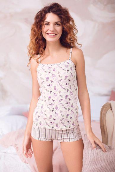 6212 komplet damski bluzka+szorty Anabel Arto
