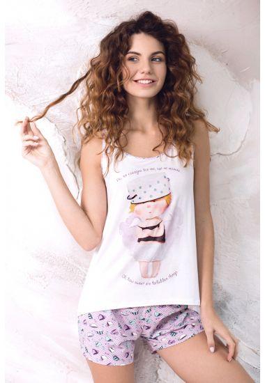 6213-6G komplet damski: koszulka+szorty Anabel Arto