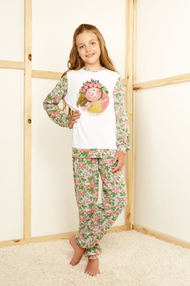 6615-3G komplet młodzieżowy bluzka+spodnie Anabel Arto