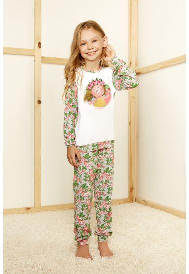 6415-3G komplet dziewczęcy bluzka+spodnie Anabel Arto