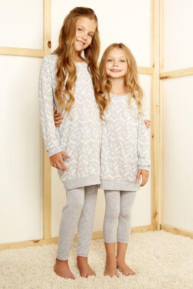 6430-1 комплект детский для девочек(джемпер удлиненный и брю