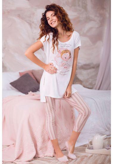 6216-7G  комплект женский джемпер+брюки укороченные  Anabel